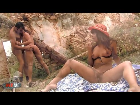 Latina Anal Threesome Outdoor
