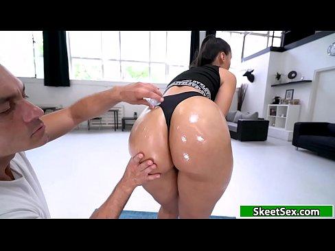 Bigass Latina rammed hard from behind