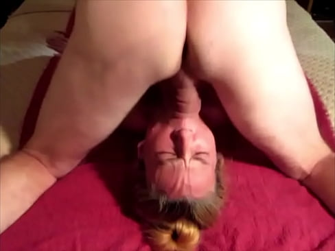 Hubby gives me a rough throat fucking