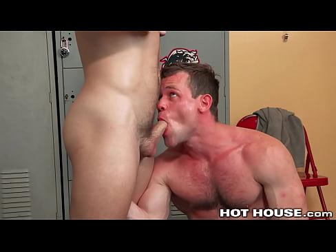 Shredded Wrestlers Fool Around In The Locker Room - HotHouse