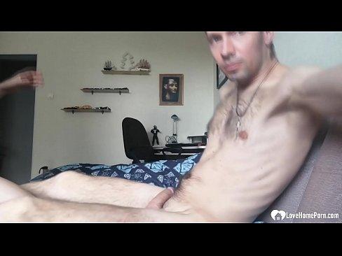 Sexy blonde stepmom loves sucking a cock