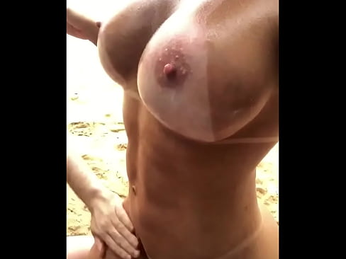 Busty Athletic Girl with Sexy Tan Lines