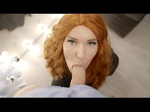 My Hubby Spank and Fuck my Redhead Twinsis Eva while i masturbate