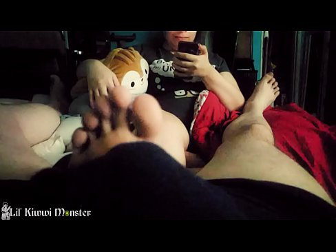Kiwwi gives your TINY dick a footjob while she plays with her PHONE. *Short*