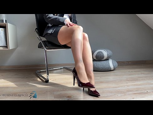 secretary feet in pantyhose and high heels, Business Bitch