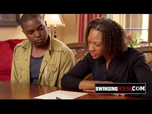 Black married couple is experiencing the swinger lifestyle for the first time.