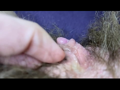 Testing Pussy licking clit licker toy big clitoris hairy pussy in extreme closeup masturbation