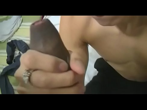 Gay plays with large knob