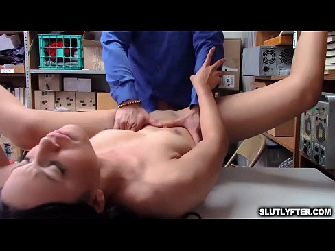 LP Officer spreadeagle fuck the shoplyfter Amethyst Banks tight pussy!