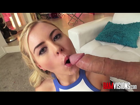 Blondie Summer Day Deepthroats a Big Cock and begs for Anal