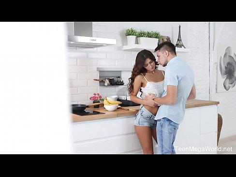 X-Angels.com - Nita Star - Hottie lures lad into kitchen