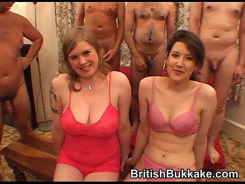Gentlemans facial and bukkake party