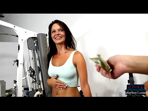 Brunette stepmom nude gym