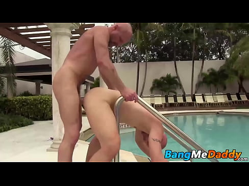 Cole Sexton is at the pool and admiring daddy Chad Brock