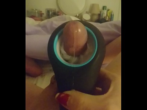 Cumshot with toy. Making myself cum with a toy.