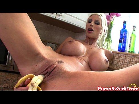 Puma Swede Rubs Banana All Over Her!