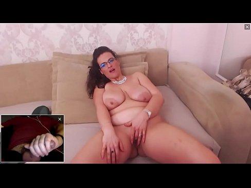 Beautiful And Sexy Bbw Milf Masturbating And Watching Me Cum On