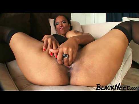 Black Step Mother With Big Melons Enjoys The BBC