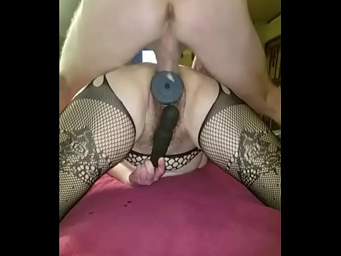 Cock slips out of my ass while he's cumming and explodes