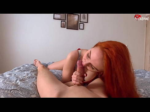 While Husband At Work Cutie Sucks Lover's Dick Deeply And Gets Cum In Mouth