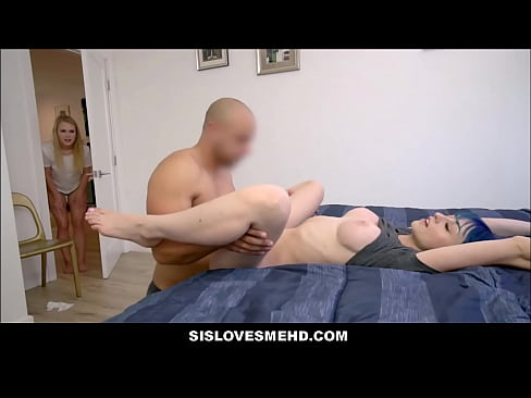 Tiny Teen Cousin Secretly Joins In As Brother Eats Teen Step Sisters Pussy POV