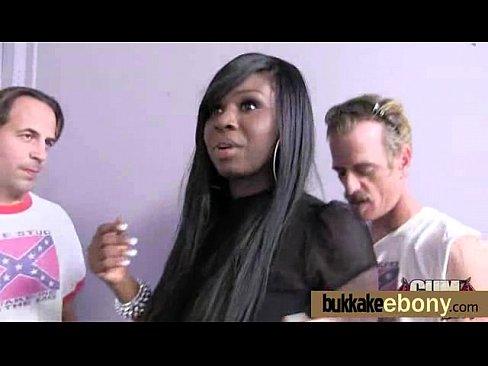 Ebony gangbanged interracial 28