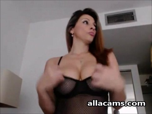 Lustful big tits milf chick is having fun all by herself