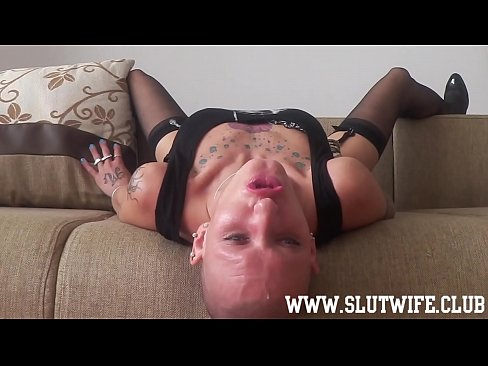 Submissive Bald Headed Slave Gets Slaps And A Sloppy Facefuck Deepthroat While Getting Fucked In Her Shaved Pussy