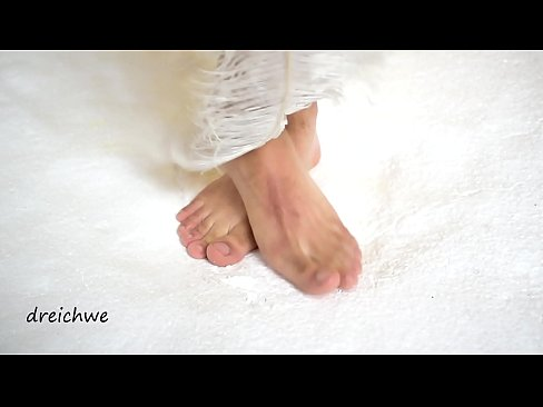 Big feet of man