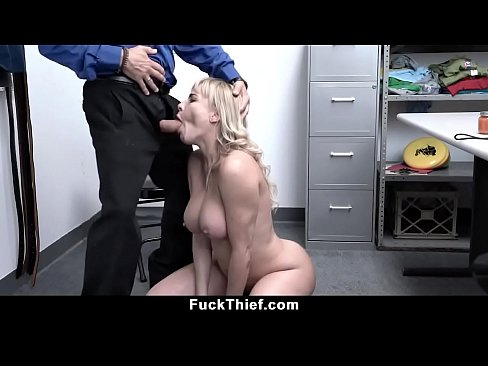 Busty Blonde Mom Shoplifter Gets Caught And Fucked
