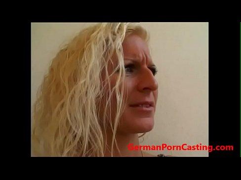 Interracial Roleplay - Blonde German MILF Gets Fucked - GermanPornCasting.com