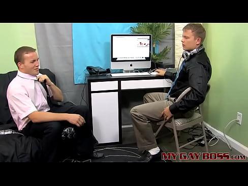 Boss Alex Andrews anal fucks his colleague Micah Andrews