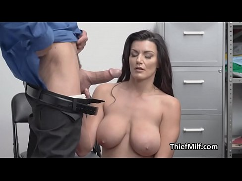 Thief wife puts her big tits up to good use