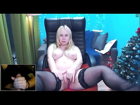 Blonde Cam Girl Masturbating And Watching Me Cum Xvideos Com