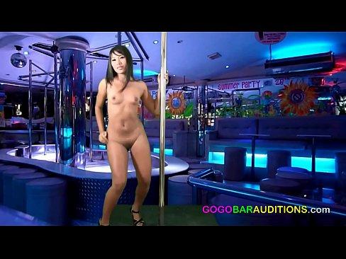 Eighteen year old Thai girl auditions for gogo bar job