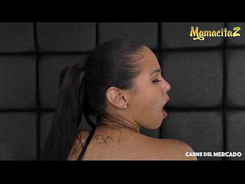 MAMACITAZ - Big Booty Latina Teen Andreina De Luxe Tries Porn On Cam With Logan Salamanca