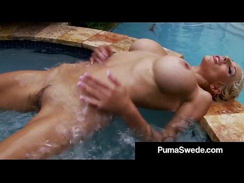 Super Fit Bodied Puma Swede Tickles Her Juicy Twat In HotTub