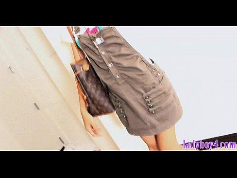 Teenage ladyboy blowjob and fucking with her boyfriend