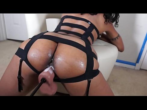 Ebony Black Handjob Cum