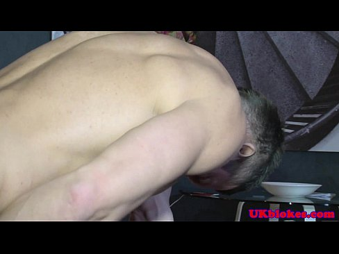 Horny english poof on knees sucking