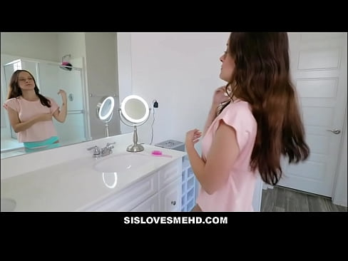 Cute Young Tiny Teen Stepsister Sex With Stepbrother In Family Restroom POV