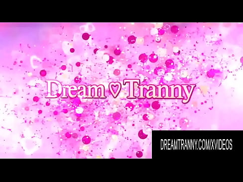 Dream Tranny - Busty Brunette Tgirls Getting Sucked Off Compilation