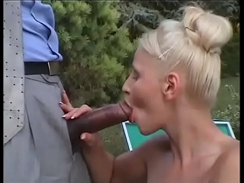 A Big Epic Giant Black Cock for the Mouth of a Blondie Bitch!