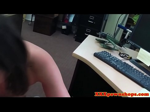 Busty pawn babe throatfucked before sex