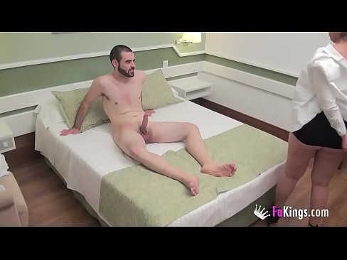 Kitty does a casting to a shy dude who doesn't know he's being filmed