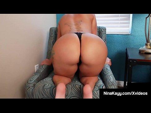 Curvy Phat Ass Nina Kayy Dildo Fucks Her Wet Plump Pussy!