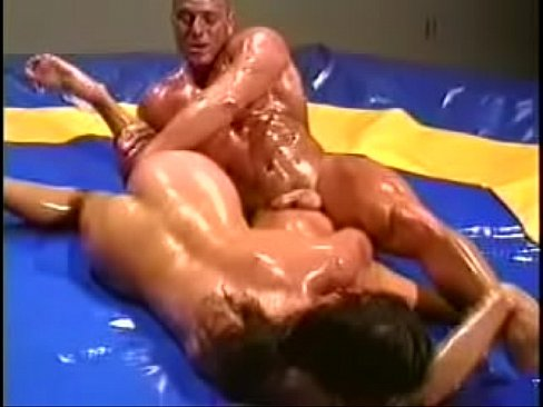 oil video Gay wrestling