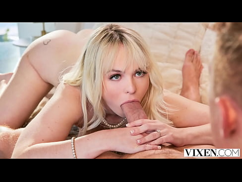 VIXEN Pretty Blonde loves helping her boss any way she can