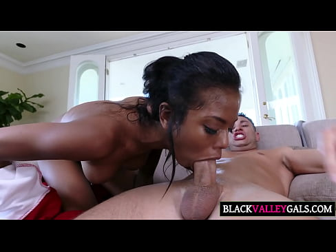Amusing ebony strap getting with a foxy fucked on babe d for that
