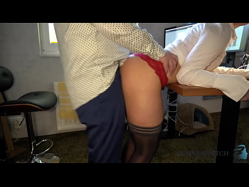 hot female boss in a crop blouse seduces employees with her sexy navel - secret office fuck, business-bitch